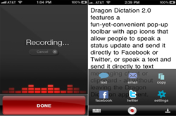 Apps Dragon dictation