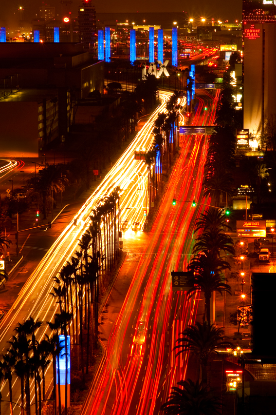 Los Angeles corporate photographer Gregory Mancuso shot this photo of the LA airport business district at night - 4