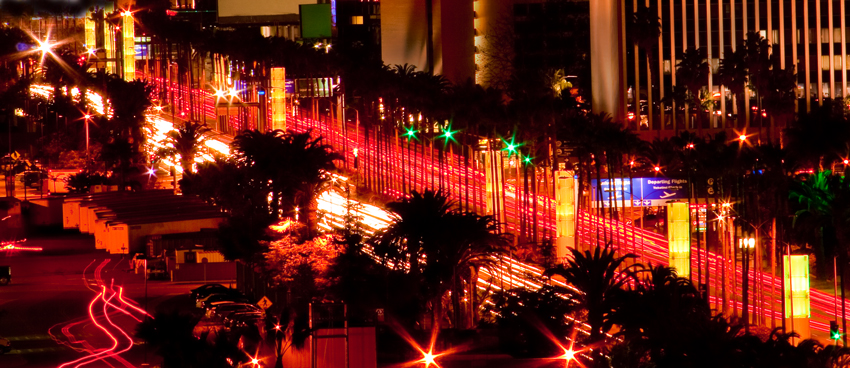 Los Angeles corporate photographer Gregory Mancuso shot this photo of the LA airport business district at night - 6