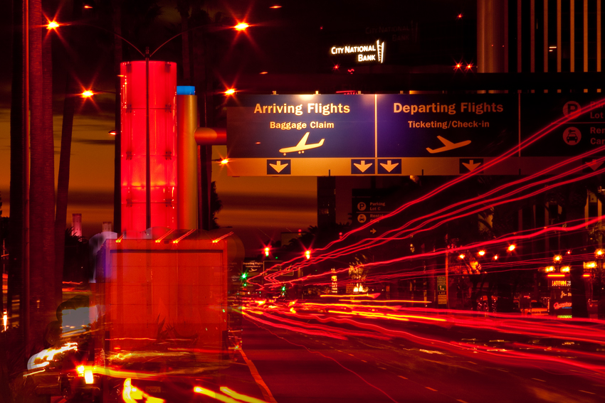 Los Angeles corporate photographer Gregory Mancuso shot this photo of the LA airport business district at night - 3