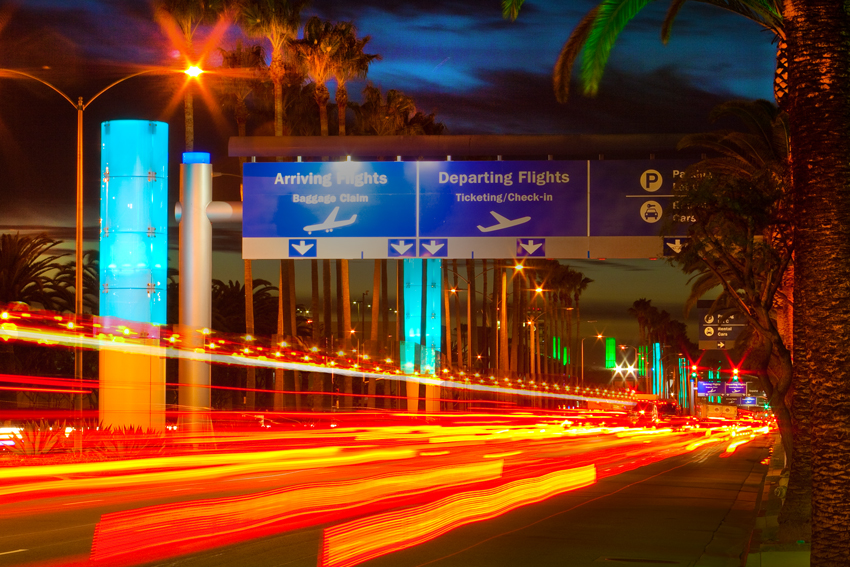Los Angeles corporate photographer Gregory Mancuso shot this photo of the LA airport business district at night - 2