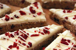 holiday recipe starbucks cranberry bliss bar