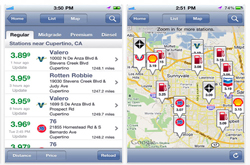 gasBuddy app finds least expensive gas