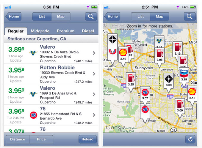 GasBuddy app finds cheap gas prices