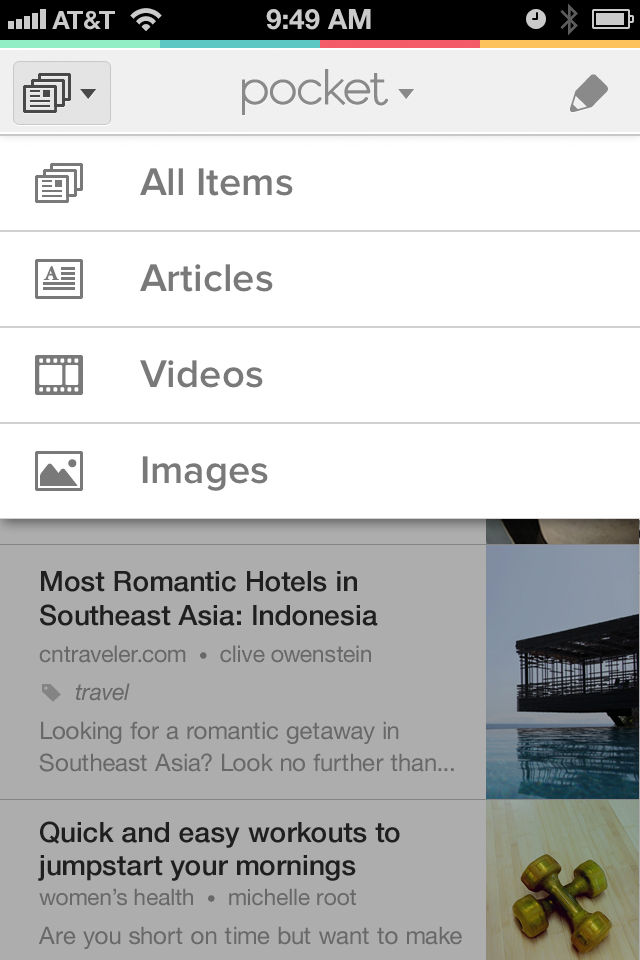 Pocket app for iPhone & Android_Screenshots_ContentType
