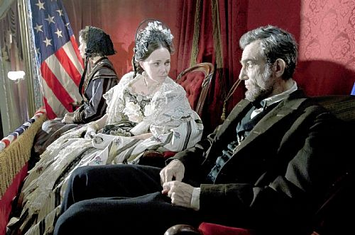 Sally Field and Daniel Day-Lewis in their roles in Lincoln movie