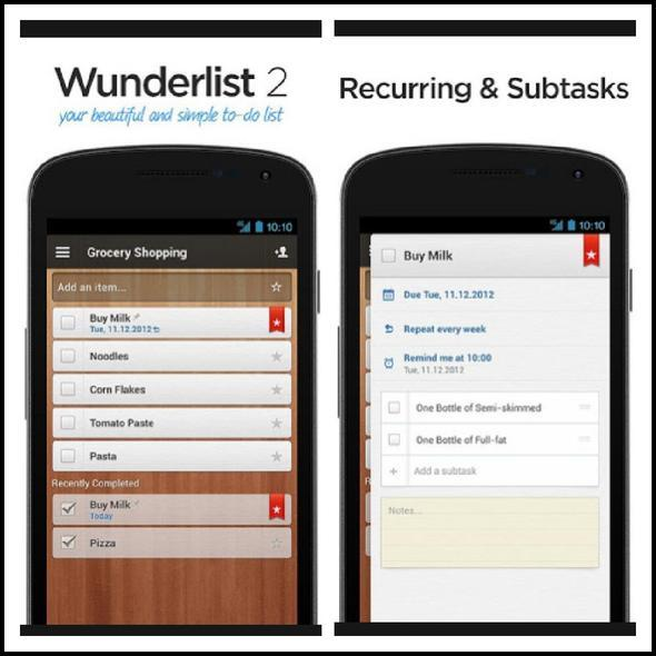 how to work with wunderlist