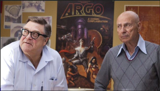 Argo-movie-actors John Goodman and Alan Arkin acting in movie scene