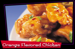 Panda Express Orange Chicken recipe finished and shown in a dish for serving