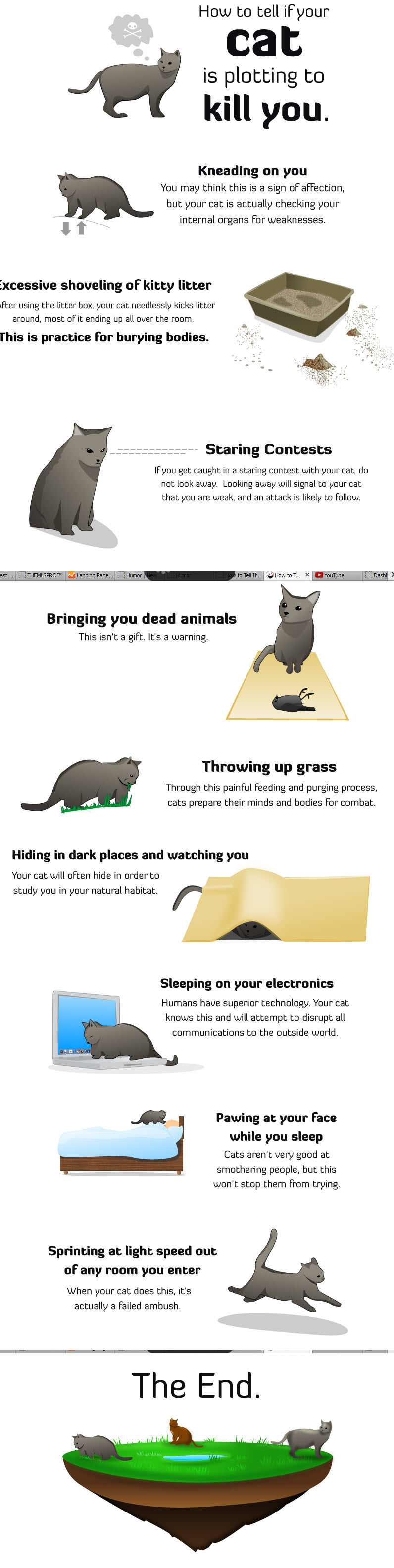 How to tell if your cat is plotting to kill you, comic