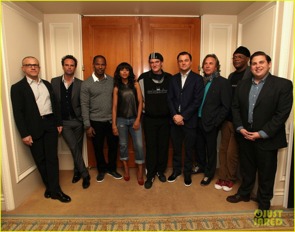 Django Unchained movie cast at film premiere