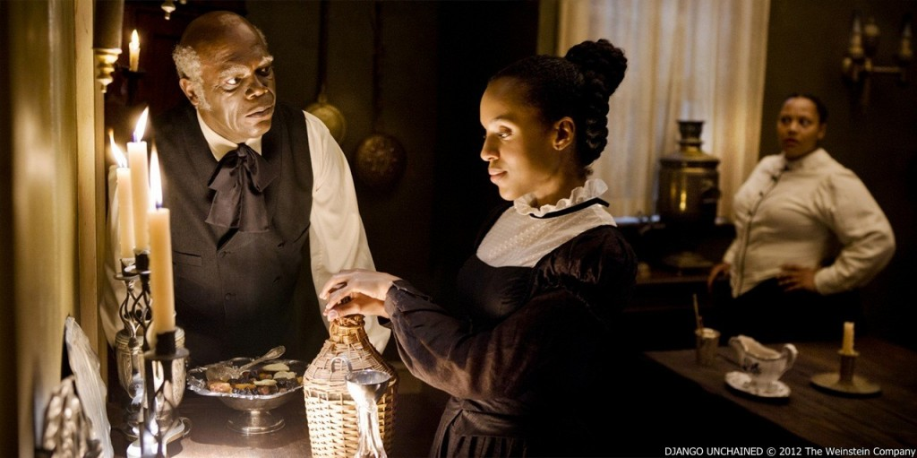 samuel_l._jackson_stars_as_stephen_and_kerry_washington acting in a scene from Django Unchained