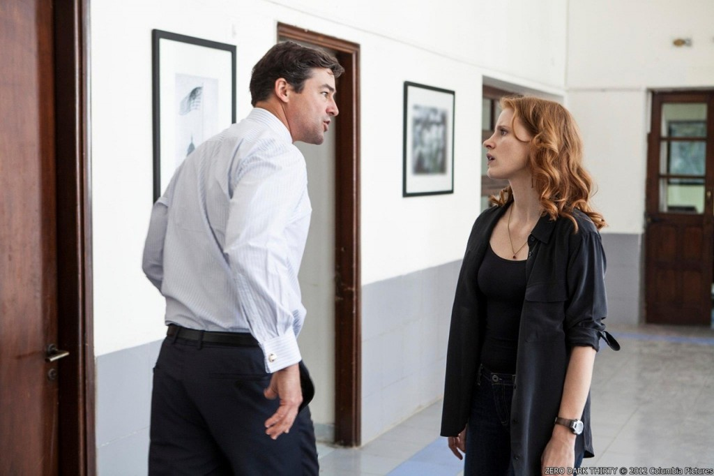 Zero Dark Thirty movie - kyle_chandler_as_joseph_bradley_and_jessica_chastain_as_maya