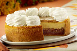 Recipes-Cheesecake Factory pumpkin pecan cheesecake, ready to serve