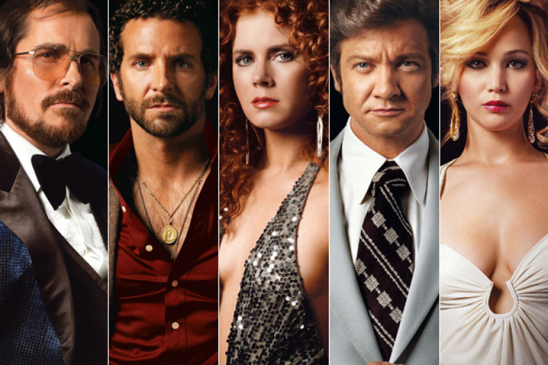 American Hustle movie cast, Amy Adams, Bradley Cooper, Christian Bale, Jennifer Lawrence, Jeremy Renner