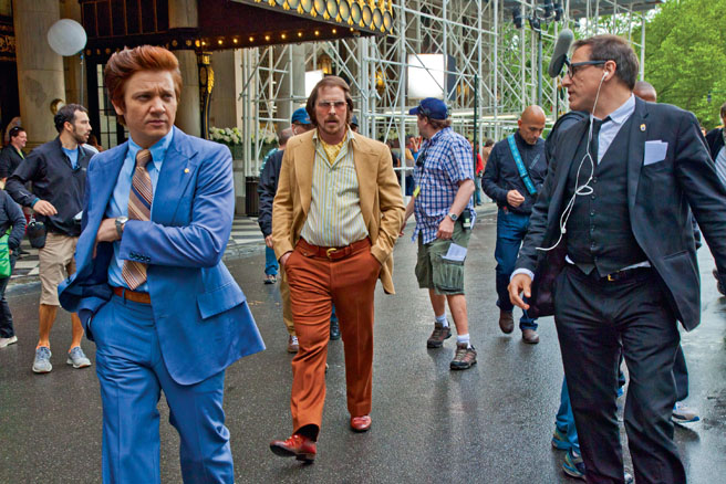 American Hustle movie script, photos, video, production notes, Christian Bale, Jeremy Renner