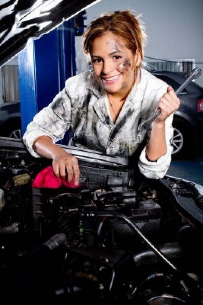 TV miniseries script about teenage girls who become the first girls to ever win the California car mechanics contest, repair