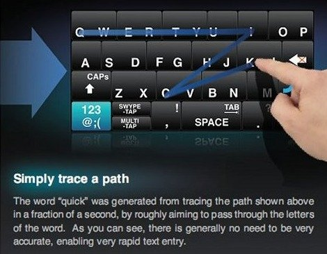 Apps, tweaks, techniques to make smartphone typing easier, faster, more accurate--Swype app