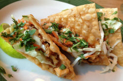Recipes | Applebees Chicken Wonton Tacos w how-to videos