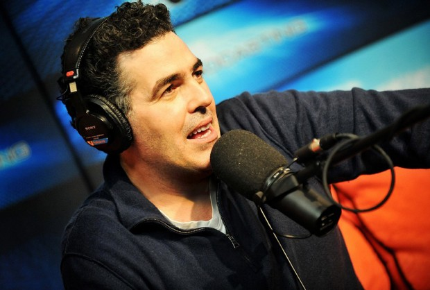The Adam Carolla Show podcast--Adam Carolla recording podcast in the studio