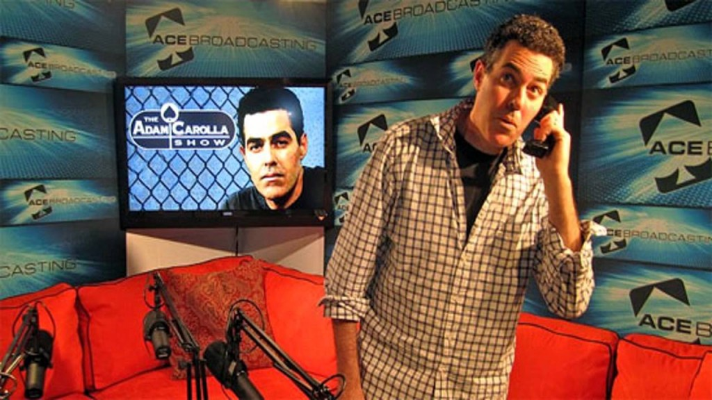 The Adam Carolla Show podcast--Adam Carolla talking to guest on phone
