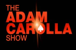 The Adam Carolla Show podcast--company logo