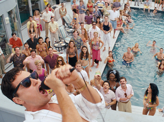 The Wolf of Wall Street movie script, photos, video, scene by pool of Leonardo DiCaprio