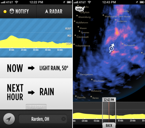 The best weather apps for smartphones - dark sky app