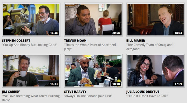 Newsletter - Funny Videos- Comedians In Cars Getting Coffee with Stephan Colbert, Jim Carrey, Julia Louis-Dreyfus