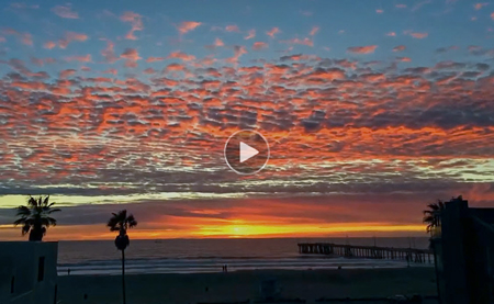 Top 10 Youtube video of Venice Beach CA timelapse sunset and ocean waves-T